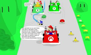 Mario and Koopa Kart by doodle-guy7