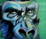gorilla face detail by 198613