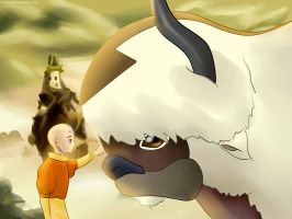 Appa y Aang by SeviYummy