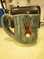 Wild Rabbit Mug by Bwabbit