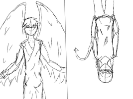 Heaven and hell scetch by Avrodite