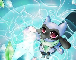 PMD, The Huge Crystal In Waterfall Cave by NemiruTami