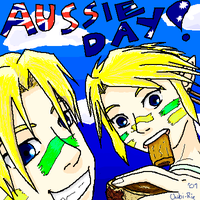 Aussie Day with OoT-TP Links by Chibi-Rie