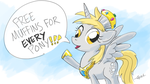 Princess Derpy by GiantMosquito