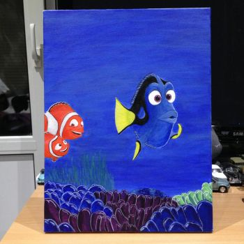 Finding Dory/Nemo Painting (Canvas) by dolgopolovki