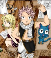 Fairy tail Lucy and Natsu by cheeryY