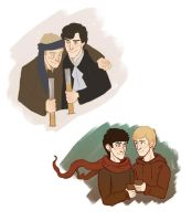 my two otps by kneelmortals