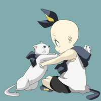 Kid And Cat by YayBases