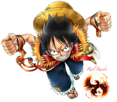 Monkey D Luffy Render 3 by RoronoaRoel