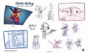 Ricochet Rabbit  Droop-a-Long Hanna Barbera 1964 by celaoxxx