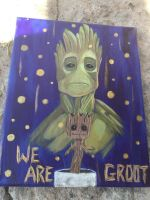 Groot Painting by Kitteh-the-Kat