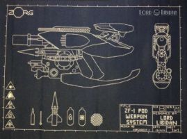 ZF-1 Blueprint Embroidery by LordLibidan