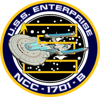 USS Enterprise B Ship's Insignia NEW VERSION by viperaviator