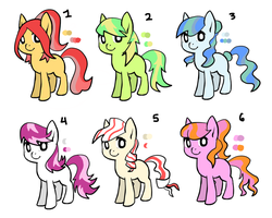 MLP adoptables by AliceBlueMudkip