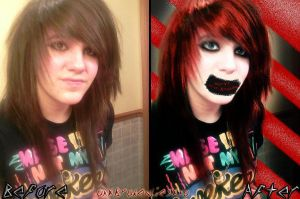 Before n After:neonpictochick2 by Analy-Aranda