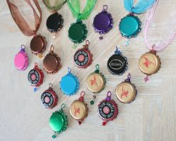 bottle cap necklaces backside by SuperFlashDance