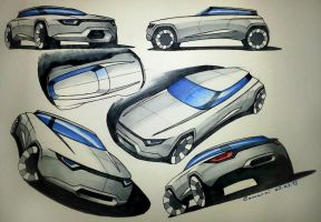 Marker Car Sketches by LoccoRico