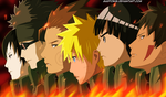 Naruto in fire by gaston18