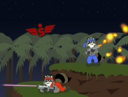The Raccoons in Contra by KrDoz