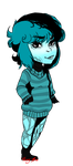 Turquoise Chibi by Honey--Bee