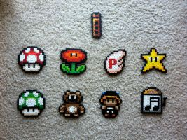 Super Mario Bros. 3 Items by Night-TAG