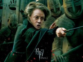 McGonagall Action Wallpaper by HarryPotter645