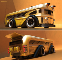 Ridikulouslee Kronic Kustom Bus No. 2! by aconnoll