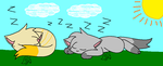 Two sleeping friends... by Sparklecat16