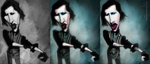 Marilyn Manson steps by DevonneAmos
