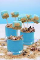 Fun Marshmallow Gold Fish Pops by theresahelmer