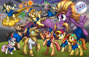 MLP: Whinny City Con Poster by Sciggles