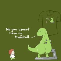 Woot Shirt - No Treadmill by fablefire