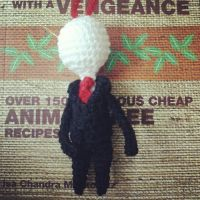 Commission: Taller Slenderman keychain by michelle-murder