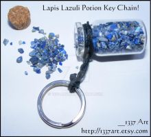 Lapis Lazuli Potion Key Chain by 1337-Art