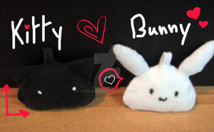 Kitty + Bunny by TokiCrafts