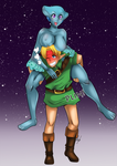 [C] Link and Ruto by lufidelis