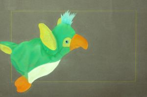 Chalk Pastel Parrot by Armored-dogg2