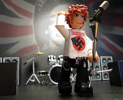 Johnny Rotten Mini-figure. by APlaceForStuff