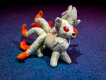 Custom Handmade Ninetails Plush by gold94chica