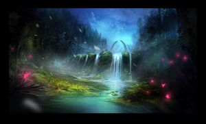 feywild - landscape for sigantium by 2blind2draw