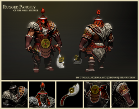Dota 2 set: Rugged Panoply of the WIld Steppes by Mickeytheretriever