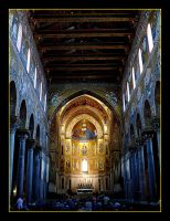 Blue And Gold - Duomo Monreale - Sicily by skarzynscy