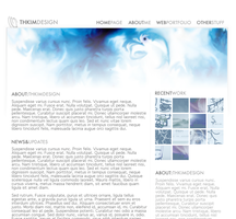 Portfolio Website Design 5 by Hekatommyriagon