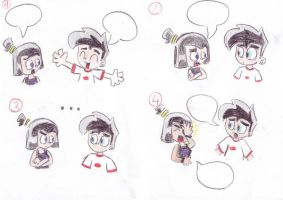 caption with Sam and Danny by Chibi-Danny