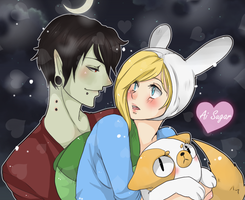 Fionna And Marshall by AiSenpai