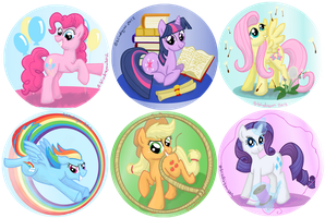 Mane 6 Circles by bibliodragon