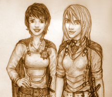 Sally and Angua by xmallory08