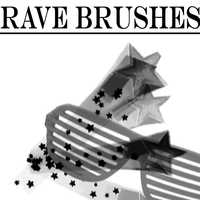 Rave Brushes by Courtneyy-Jane