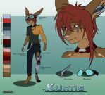 Fursona Sheet - Kurtis by Jeffk38uk