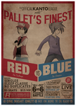 Red vs Blue retro poster by Roos-Vicee
